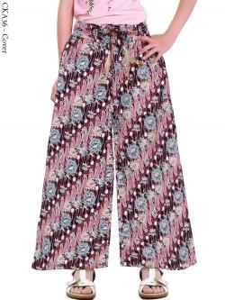 CKA36 Celana Kulot Anak Katun Linen Batik