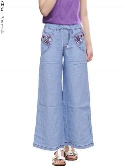 CKA41 Celana Kulot Jeans Anak Tanggung 6-10th