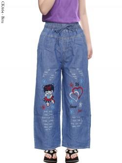 CKA64 Celana Kulot Jeans Anak Bordir