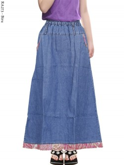 RA273 Rok Jeans Anak Tanggung List batik 8-13th