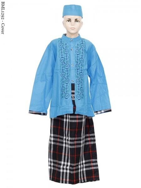 BML1295 (7-12) Baju Koko Anak Celana Sarung