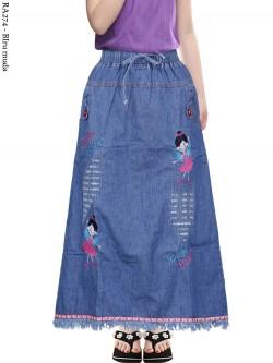 RA274 Rok Jeans Anak Tanggung Bordir Rawis 6-110th