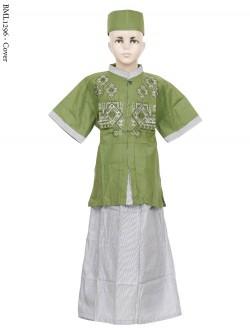 BML1296 (7-12) Baju Koko Anak Celana Sarung