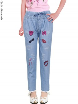 CJA66 (2-12) Celana Jeans Anak Bordir