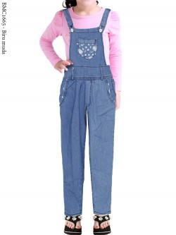 BMC1665 Overall Jeans Anak Pencil Motif