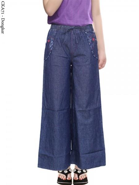 CKA71 Celana Kulot Jeans Anak Tanggung