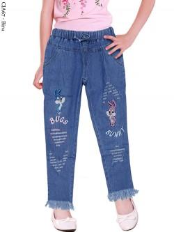 CJA67 Celana Jeans Anak Bordir Rawis