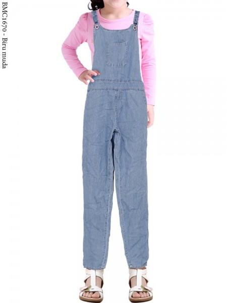 BMC1670 Jhumsuit Jeans Celana Anak Tanggung