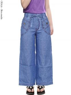 CKA51 Celana Kulot Jeans Anak Tanggung