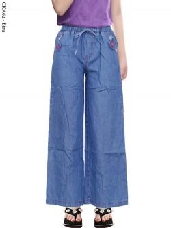 CKA62 Celana Kulot Jeans Anak Tanggung 6-10th