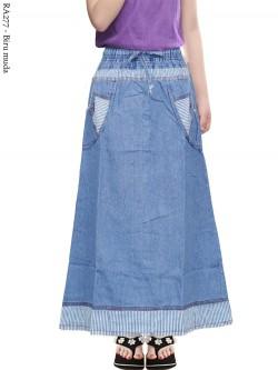 RA277 Rok Jeans Anak Tanggung List Salur 6-11th