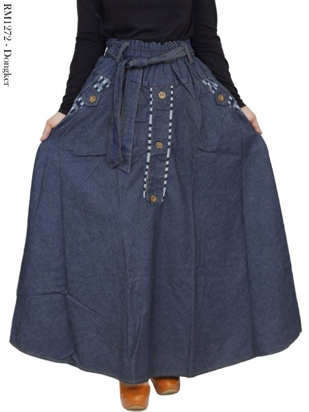 RM1272 Rok Jeans Jumbo Payung Kancing