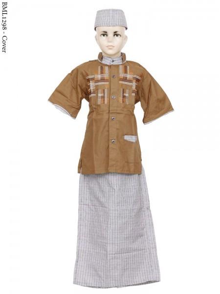 BML1298 (7-12) Baju Koko Anak Celana Sarung