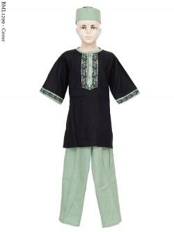 BML1299 (7-12) Baju Koko Anak Katun Bordir