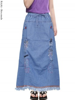 RA282 Rok Jeans Anak Tanggung Bordir Rawis 6-110th