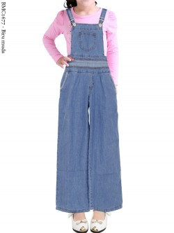 BMC1677 (16-20) Overall Jeans Anak Kulot