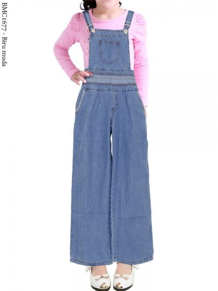 BMC1677 (16-20) Overall Jeans Anak Kulot