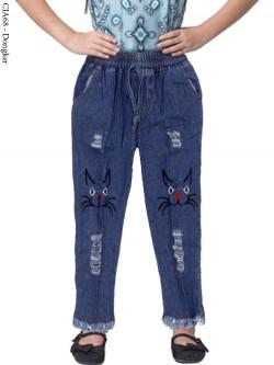 CJA68 Celana Jeans Anak Bordir Rawis