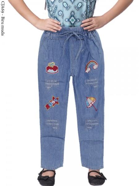 CJA69 (2-12) Celana Jeans Anak Bordir