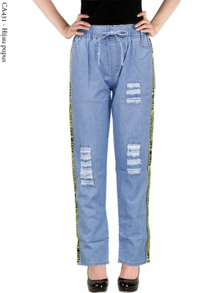CA431 Celana Jeans Remaja/ABG Dewasa Bordir
