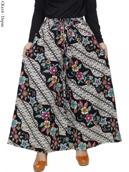 CK416 Celana Kulot Jumbo Katun Batik