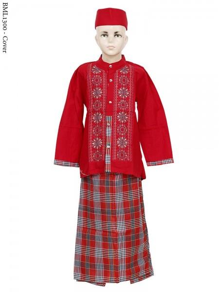 BML1300 (7-12) Baju Koko Anak Celana Sarung