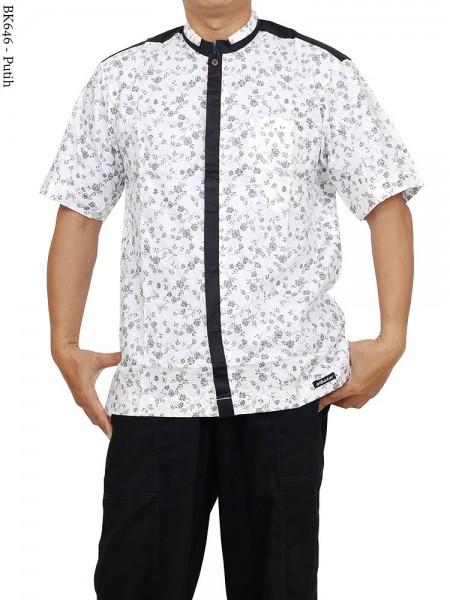 BK646 Baju Koko Albatar Kombinasi Batik