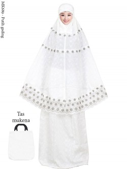 MK689 Mukena Katun Paris Full Bordir