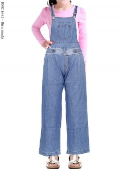 BMC1682(16-20) Overall Jeans Anak Kulot