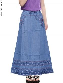 RA284 Rok Jeans Anak Tanggung List motif 6-11th
