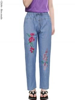 CJA80 Celana Jeans Anak Bordir bunga