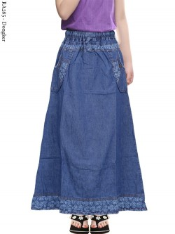 RA285 Rok Jeans Anak Tanggung List Motif 8-12th