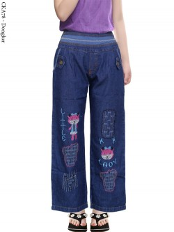 CKA78 Celana Kulot Jeans Anak Bordir
