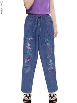 CJA73 Celana Anak Bordir Barbie