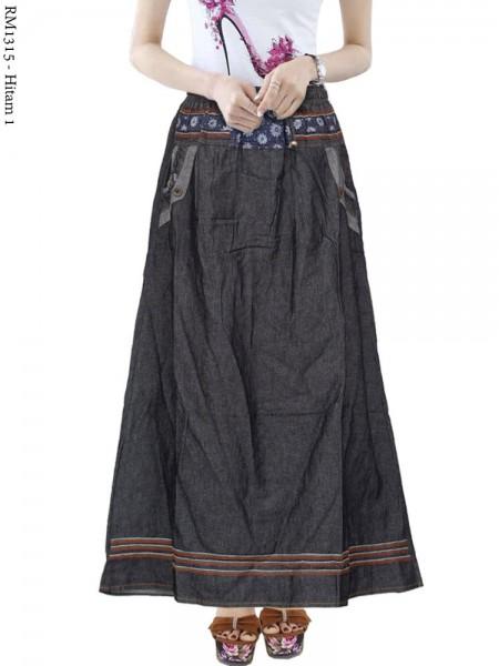 RM1315 Rok Jeans Remaja List motif