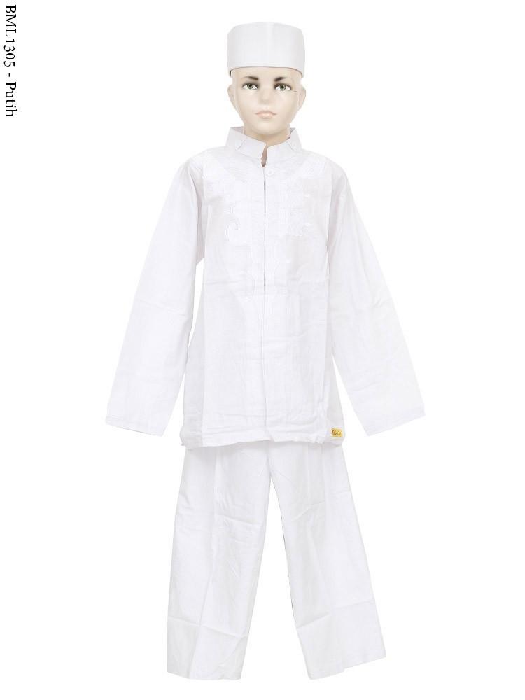 Grosir Baju Koko Anak putih Bordir senada Terbaru