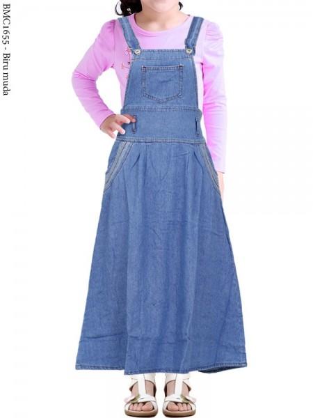 BMC1655(16-20) Overall Jeans Anak Tanggung