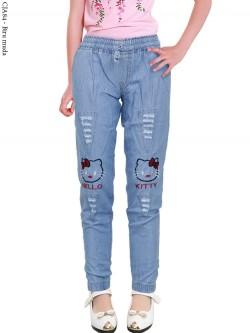 CJA84 Celana Jogger Anak Bordir Hellokitty