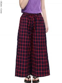CKA61 Celana Kulot Anak Katun Woll Motif