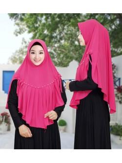 JL880 Jilbab Jersey Rempel Mutiara