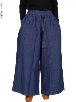 CK397 Celana Kulot Jumbo Jeans Polos
