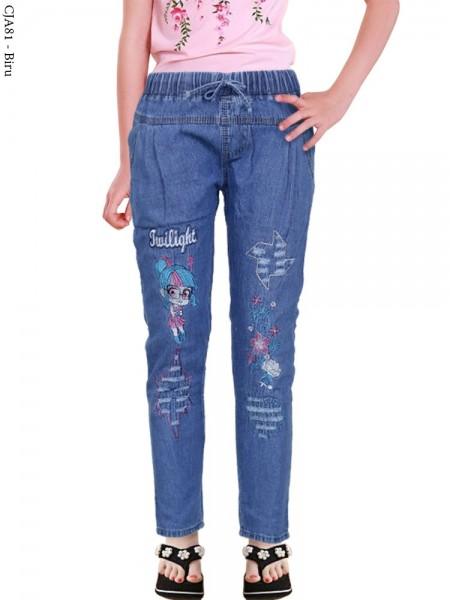 CJA81 Celana Anak Bordir Bunga