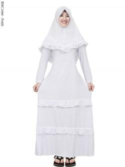 BMC1690 (all-size) Gamis Jersey Putih Anak Tanggung