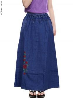 RA304 Rok Jeans Anak Tanggung Motif Bordir