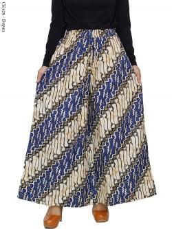 CK429 Celana Kulot Jumbo Katun Linen Batik