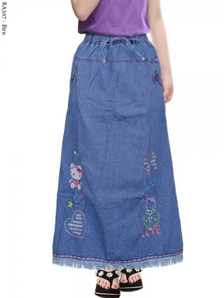 RA307 Rok Jeans Anak Tanggung Rawis Bordir