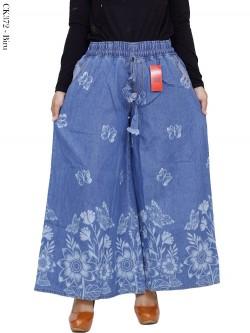 CK372 Celana Kulot Jeans Jumbo Motif