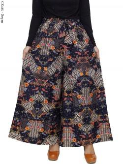 CK435 Celana Kulot Jumbo Katun Linen Batik