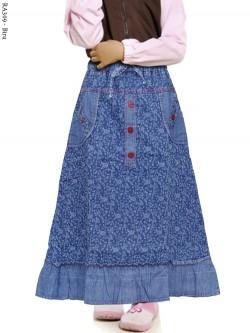 RA309 Rok Anak Jeans Stretch Motif
