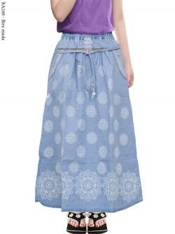 RA298 Rok Jeans Anak Tanggung Sablon Batik